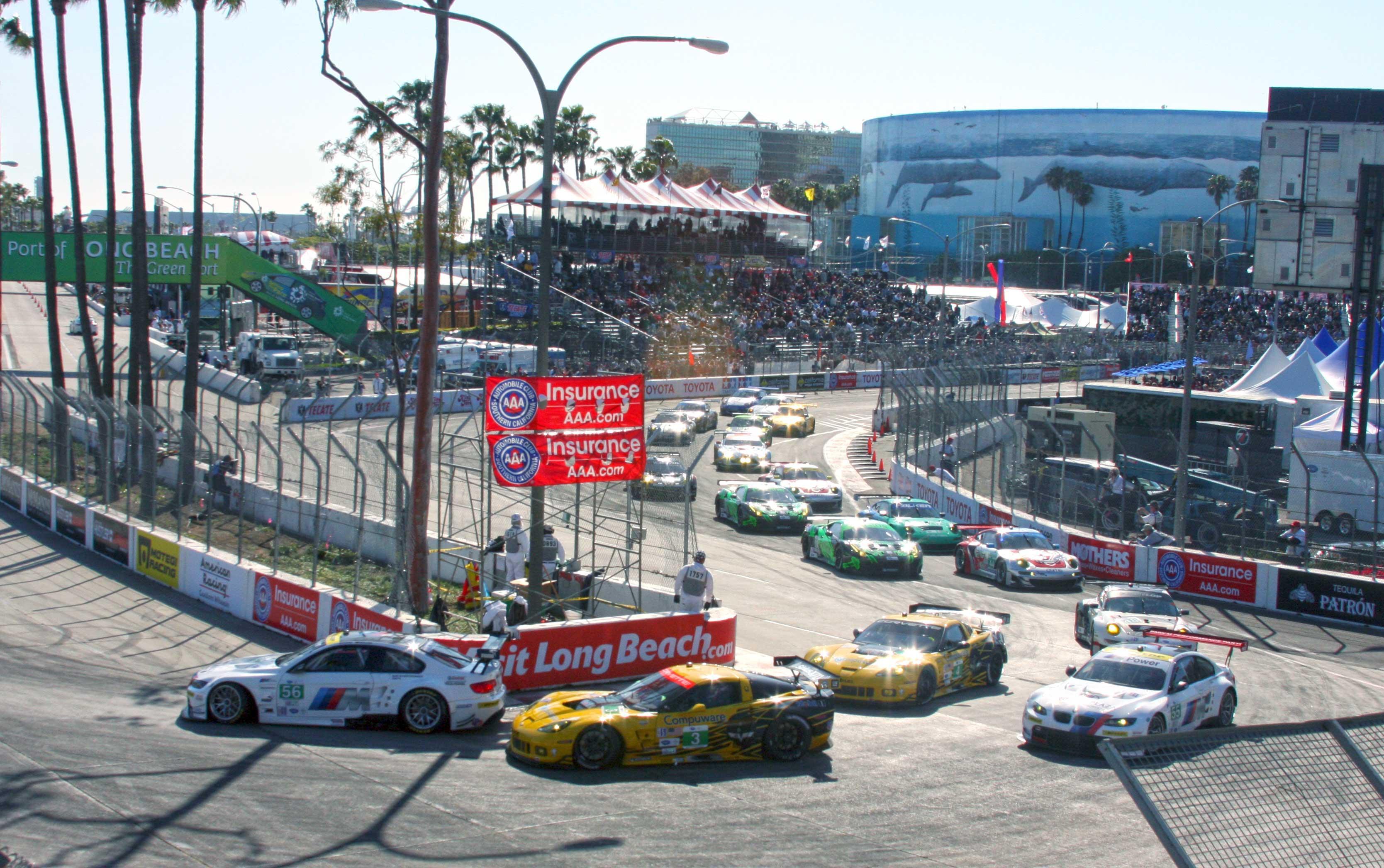 First Lap Toyota Grand Prix Of Long Beach